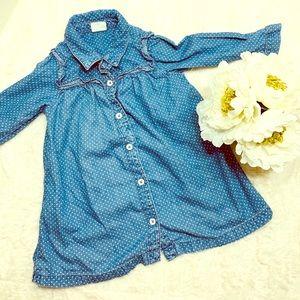 🌻 Baby Gap Chambray polka dotted dress 🌻